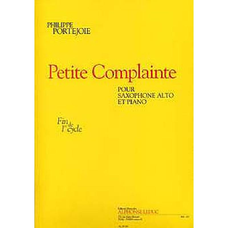 Titelbild für AL 29785 - PETITE COMPLAINTE