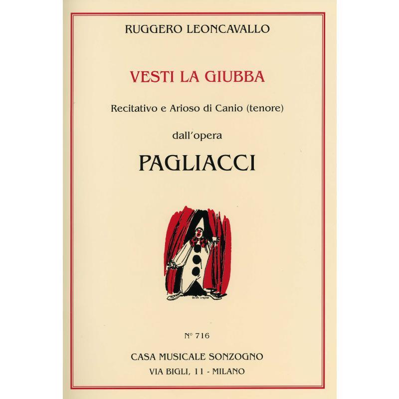 Titelbild für SONZOGNO 716 - VESTI LA GIUBBA (AUS PAGLIACCI/BAJAZZO)