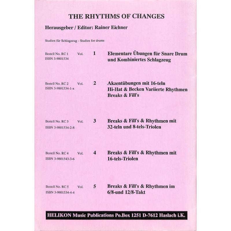 Notenbild für HELIKON -RC2 - RHYTHMS OF CHANGES 2