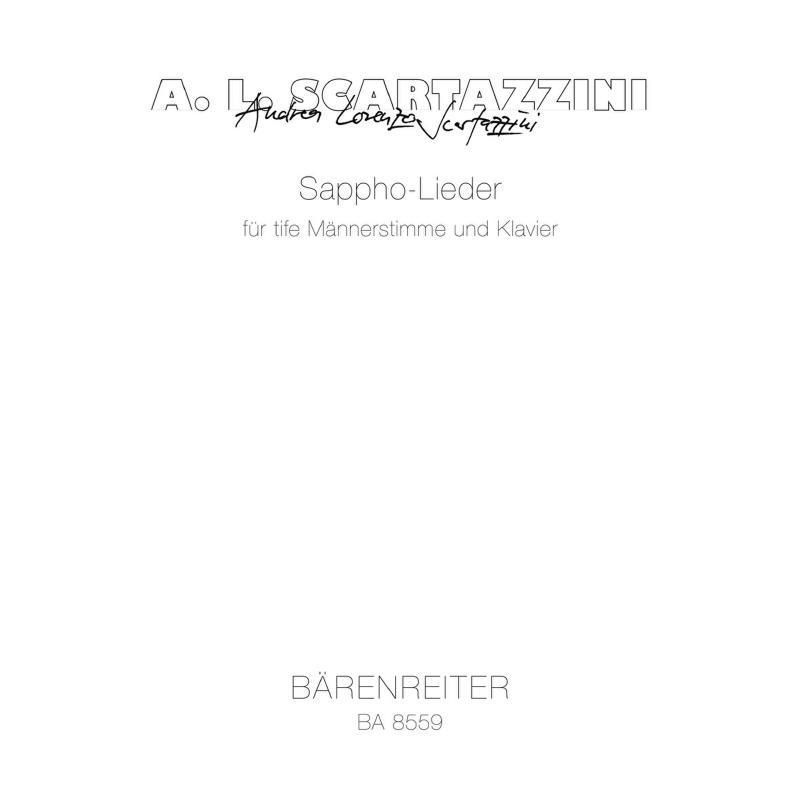Titelbild für BA 8559 - SAPPHO LIEDER