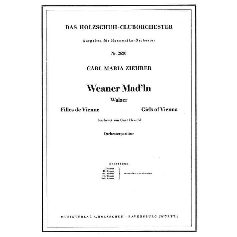 Titelbild für VHR 2620-00 - WEANER MAD'LN
