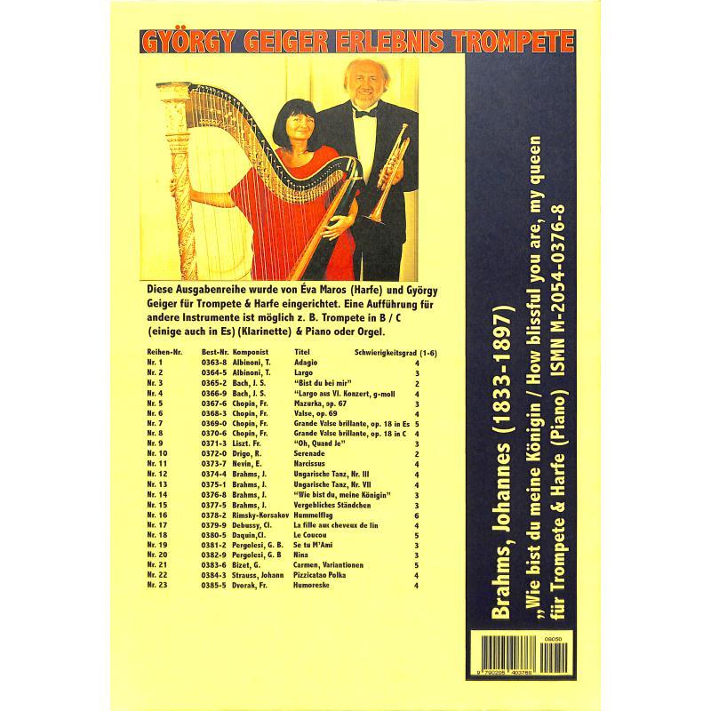 Notenbild für HAAS 0376-8 - WIE BIST DU MEINE KOENIGIN OP 32/9