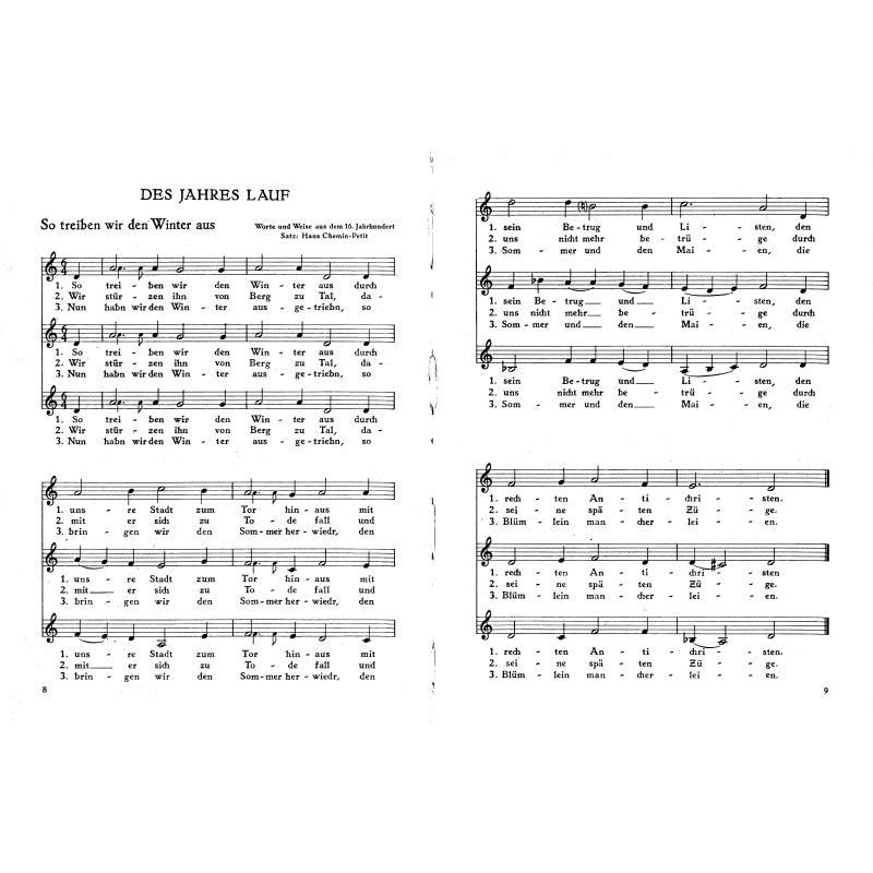 Notenbild für FH 3822 - WIR SINGEN 2 - ALTE VOLKSLIEDER IN NEUEN SAETZEN