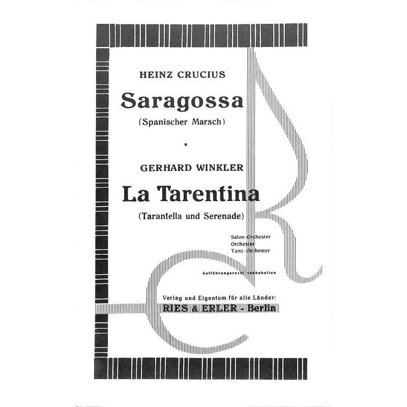 Titelbild für RE 90025 - SARAGOSSA + LA TARENTINA