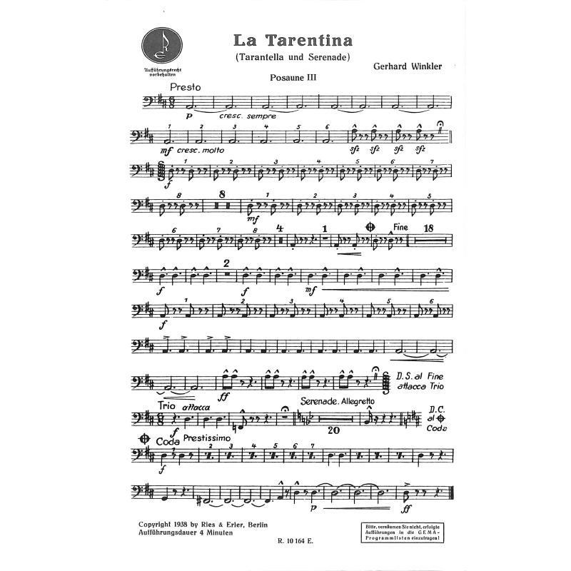 Notenbild für RE 90025 - SARAGOSSA + LA TARENTINA
