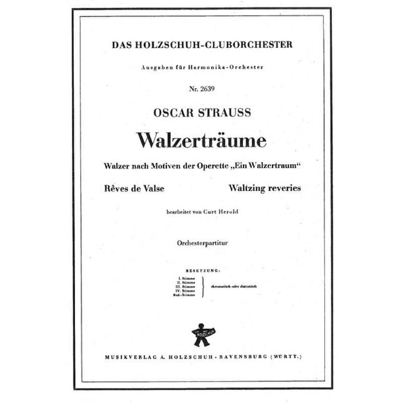 Titelbild für VHR 2639-00 - WALZERTRAEUME