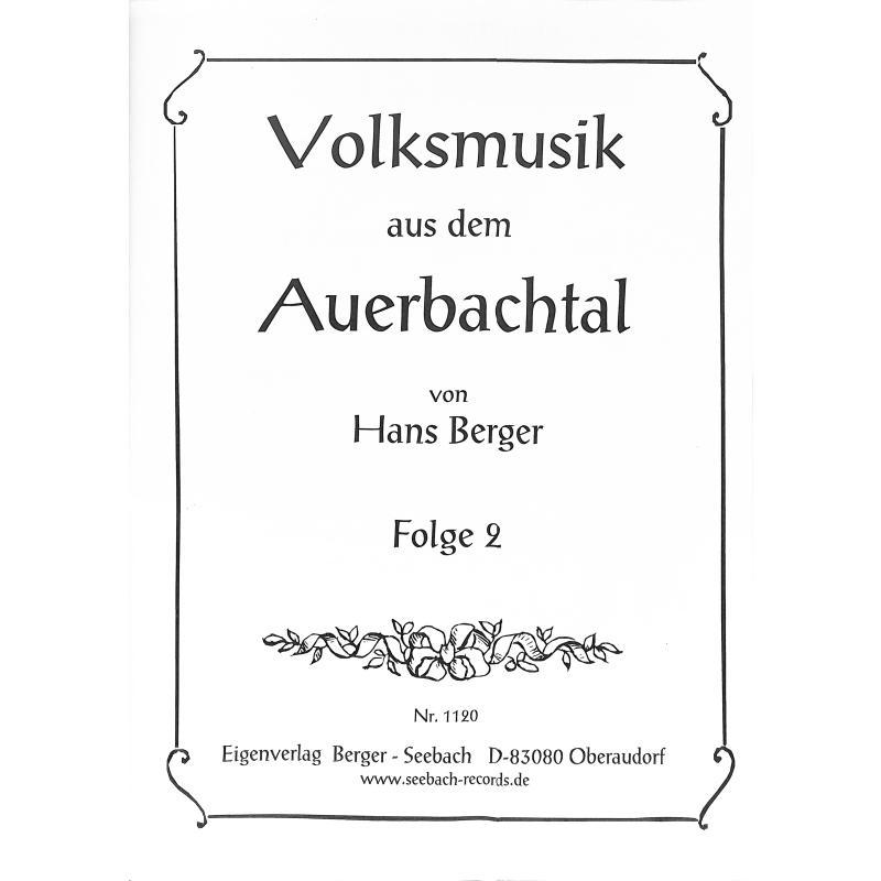 Titelbild für SEEBACH -MVB1120 - VOLKSMUSIK AUS DEM AUERBACHTAL 2