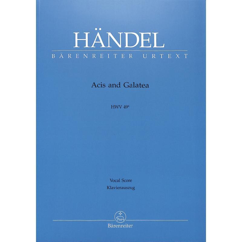 Titelbild für BA 4039-90 - Acis + Galatea HWV 49a