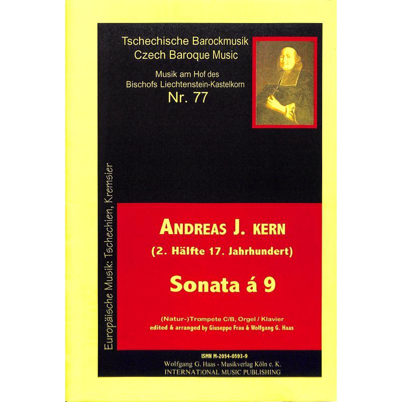 Titelbild für HAAS 0593-9 - SONATA A 9 - TRP 3 POS STR BC