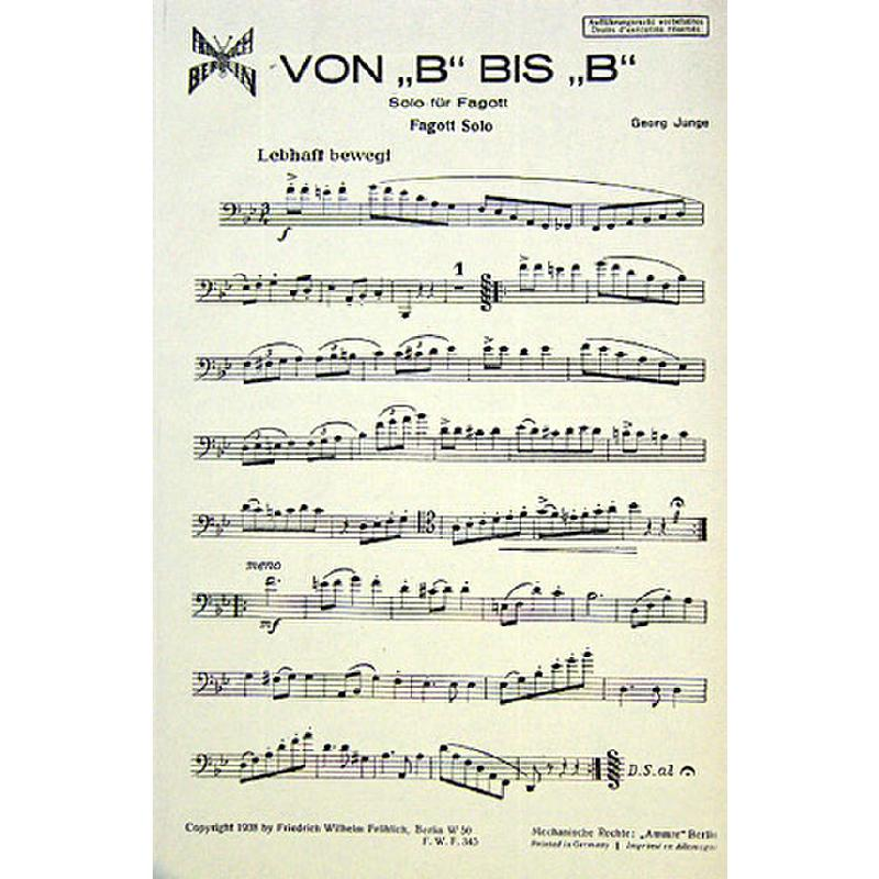 Titelbild für FWF 345 - VON B BIS B - BRAVOUR WALZER