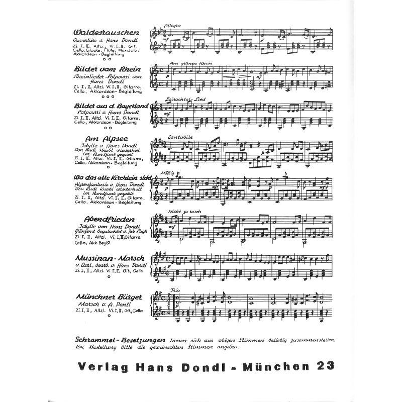 Notenbild für DONDL 2508-1 - ISAR MAERCHEN