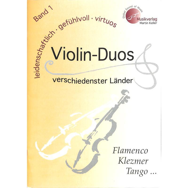 Titelbild für MVK 171701 - VIOLIN DUOS VERSCHIEDENSTER LAENDER 1