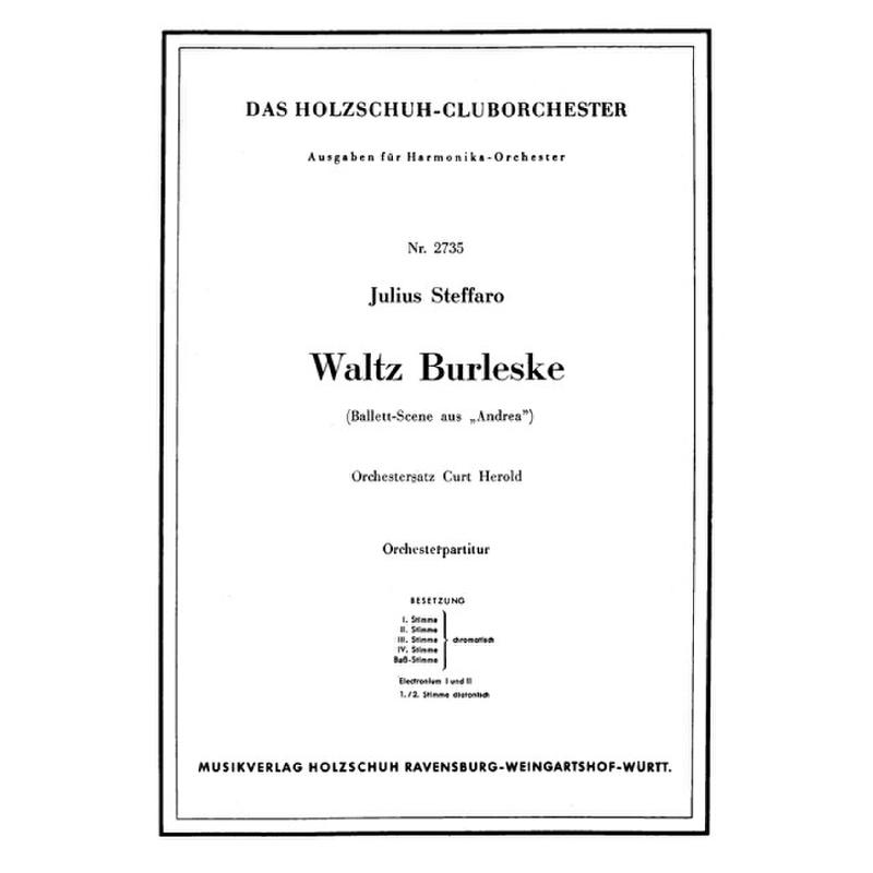 Titelbild für VHR 2735-00 - WALTZ BURLESKE