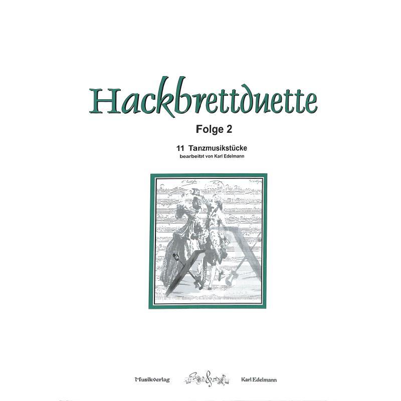 Titelbild für EDELMANN 5159 - HACKBRETTDUETTE 2 - 11 TANZMUSIKSTUECKE