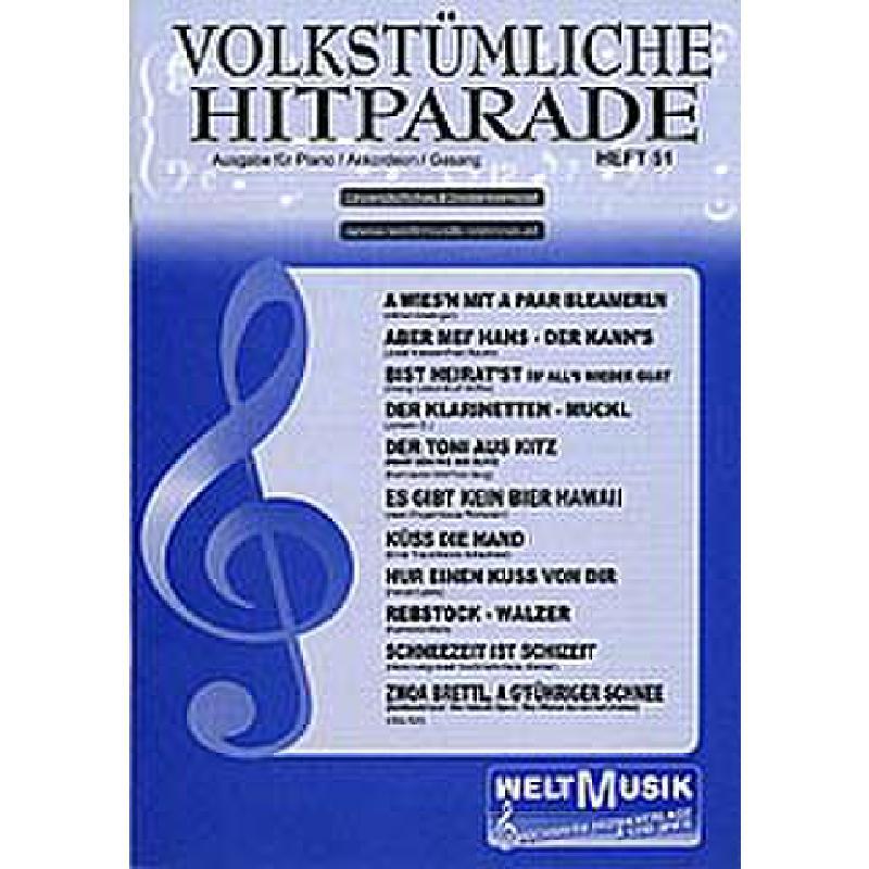 Titelbild für WM -VH51 - VOLKSTUEMLICHE HITPARADE 51