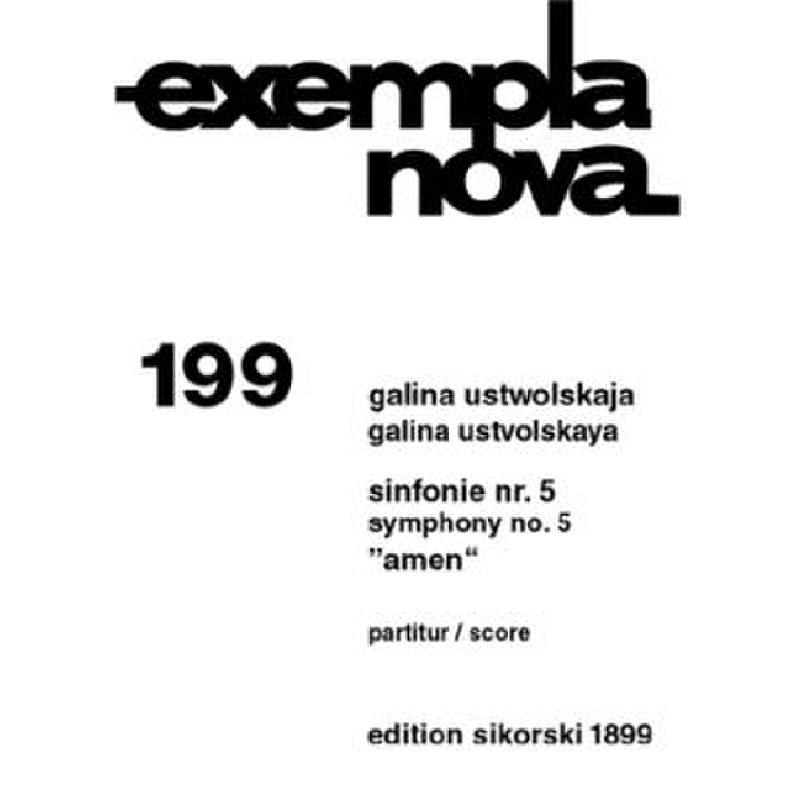 Titelbild für SIK 1899 - SINFONIE 5 (AMEN)