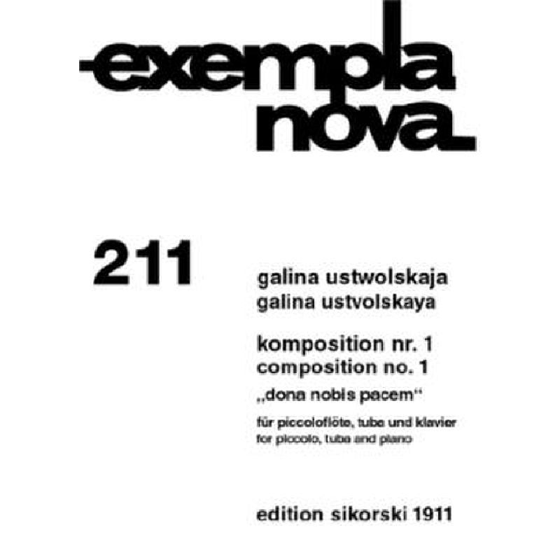Titelbild für SIK 1911 - KOMPOSITION NR 1 DONA NOBIS PACEM
