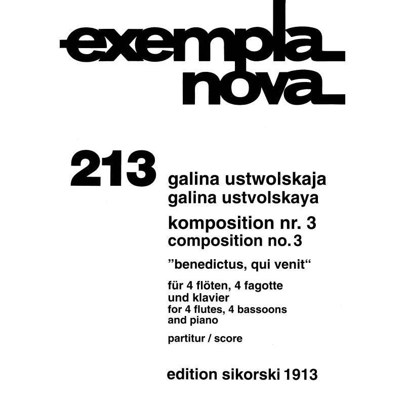 Titelbild für SIK 1913 - KOMPOSITION NR 3 BENEDICTUS QUI VENIT