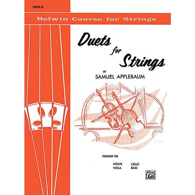 Titelbild für EL 01991 - DUETS FOR STRINGS 1
