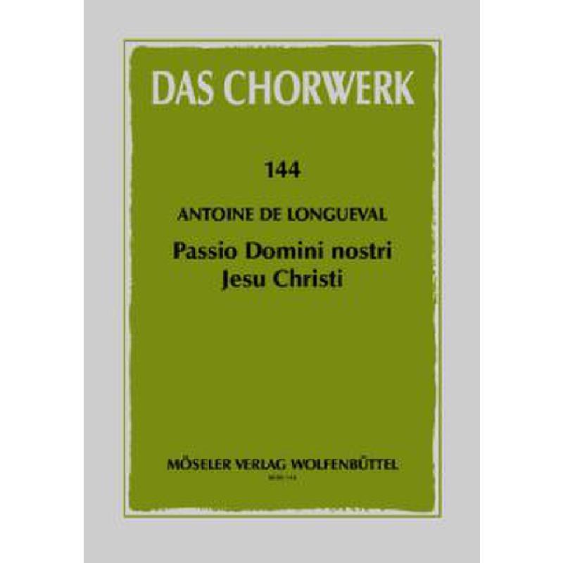 Titelbild für M 80144 - PASSIO DOMINI NOSTRI JESU CHRISTI