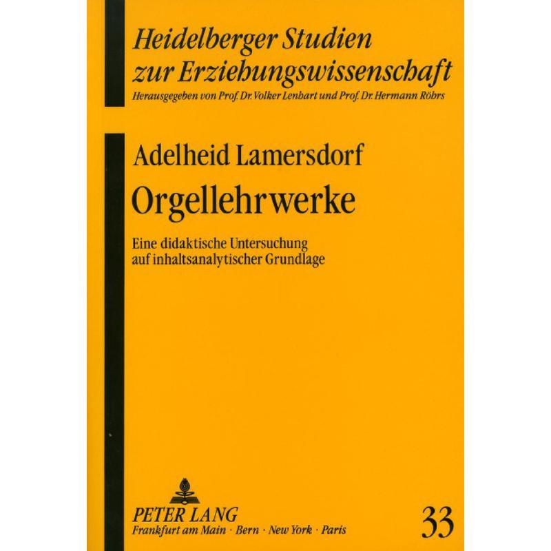Titelbild für ISBN 3-631-43920-2 - ORGELLEHRWERKE