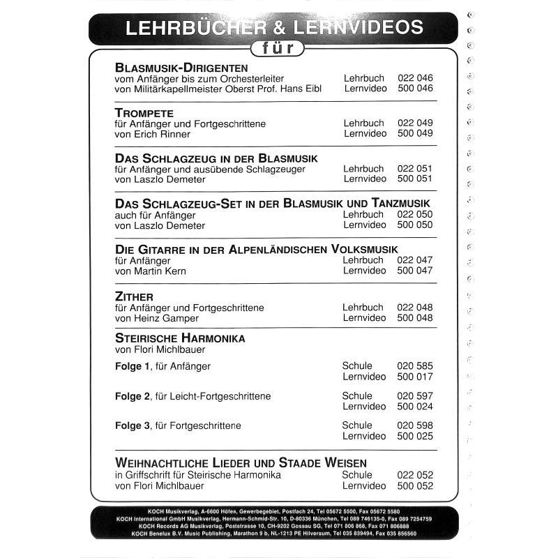 Notenbild für ECHO -EC1041 - LEHRBUCH ZITHER