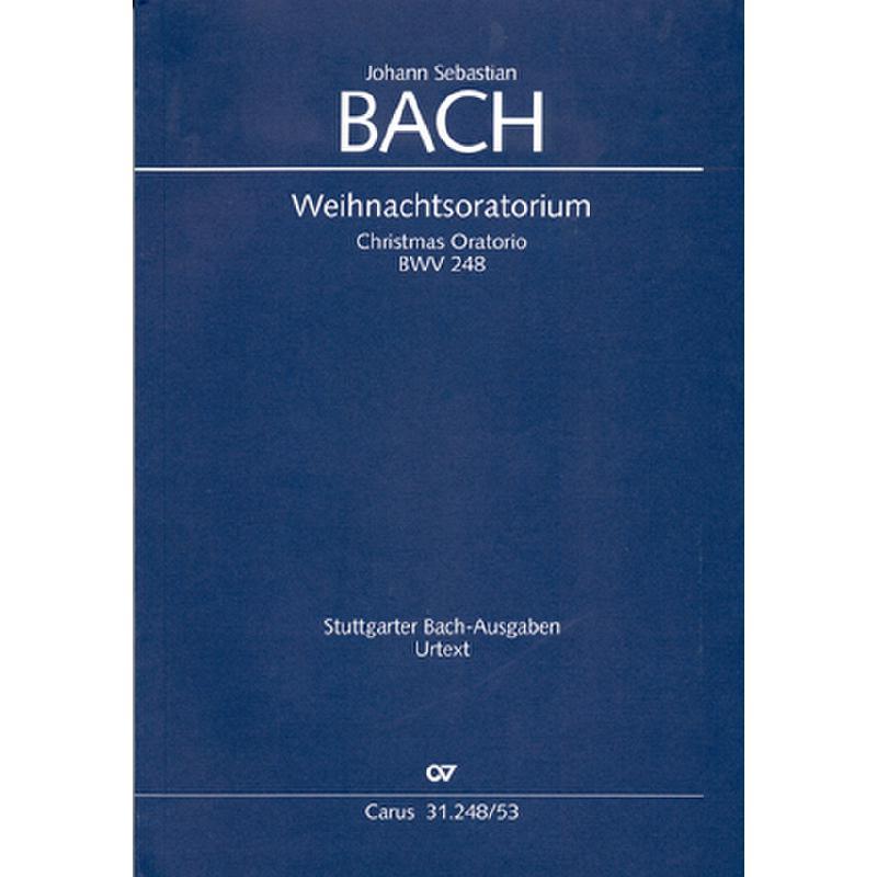 Titelbild für CARUS 31248-53 - WEIHNACHTSORATORIUM BWV 248