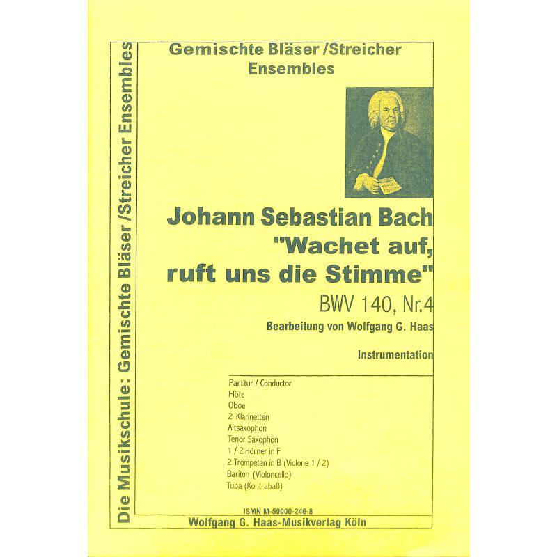 Titelbild für HAAS 246-8 - WACHET AUF RUFT UNS DIE STIMME BWV 140/4