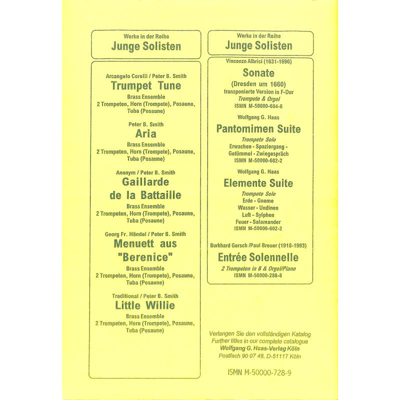 Notenbild für HAAS 728-9 - AIR (ORCHESTERSUITE 3 D-DUR BWV 1068)