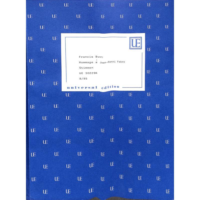 Titelbild für UE 30229K - HOMMAGE A JEAN HENRI FABRE