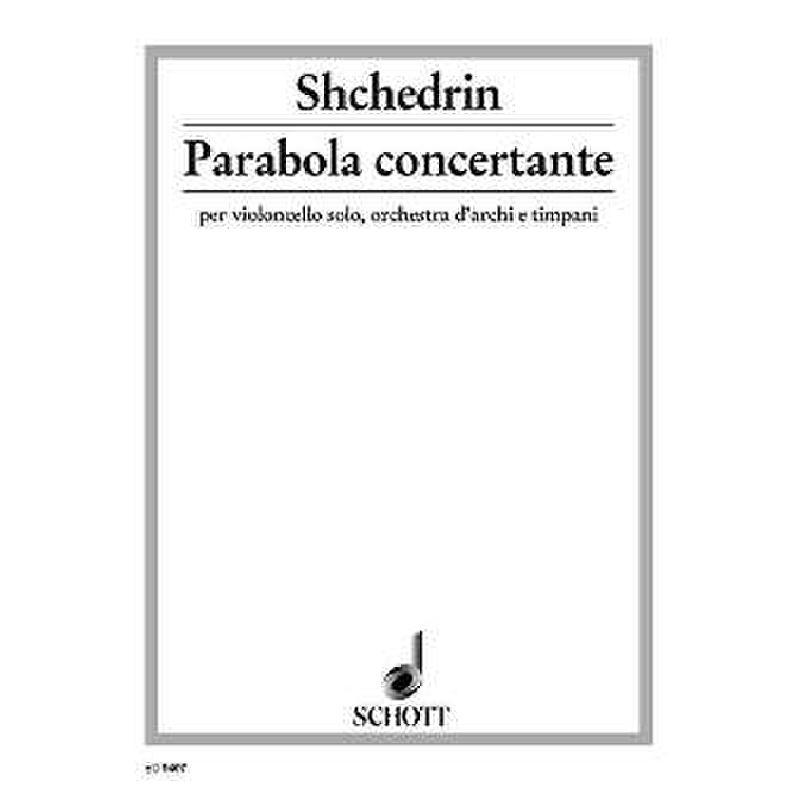 Titelbild für ED 9407 - PARABOLA CONCERTANTE - VC STR PK