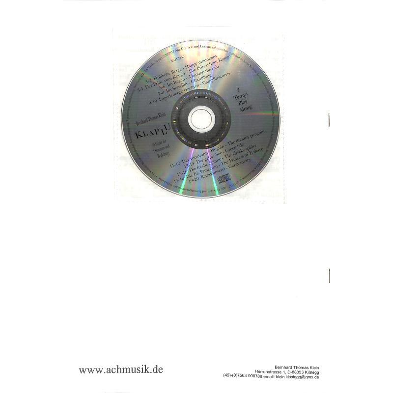 Notenbild für ACH 1106 - KLAPLU - 10 STUECKE FUER 2 STIMMEN