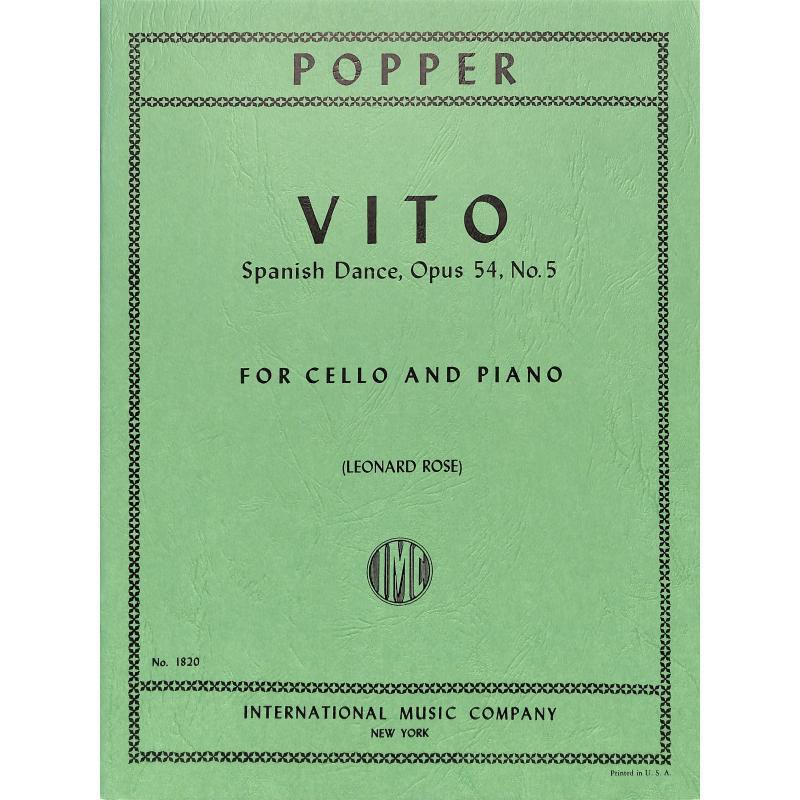 Titelbild für IMC 1820 - VITO (SPANISCHE TAENZE OP 54/5)