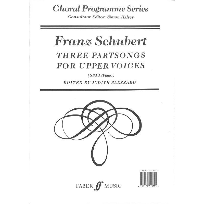 Titelbild für ISBN 0-571-51309-3 - 3 PARTSONGS FOR UPPER VOICES