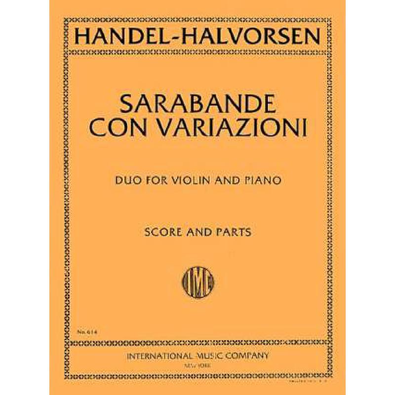 Titelbild für IMC 614 - SARABANDE CON VARIAZIONI