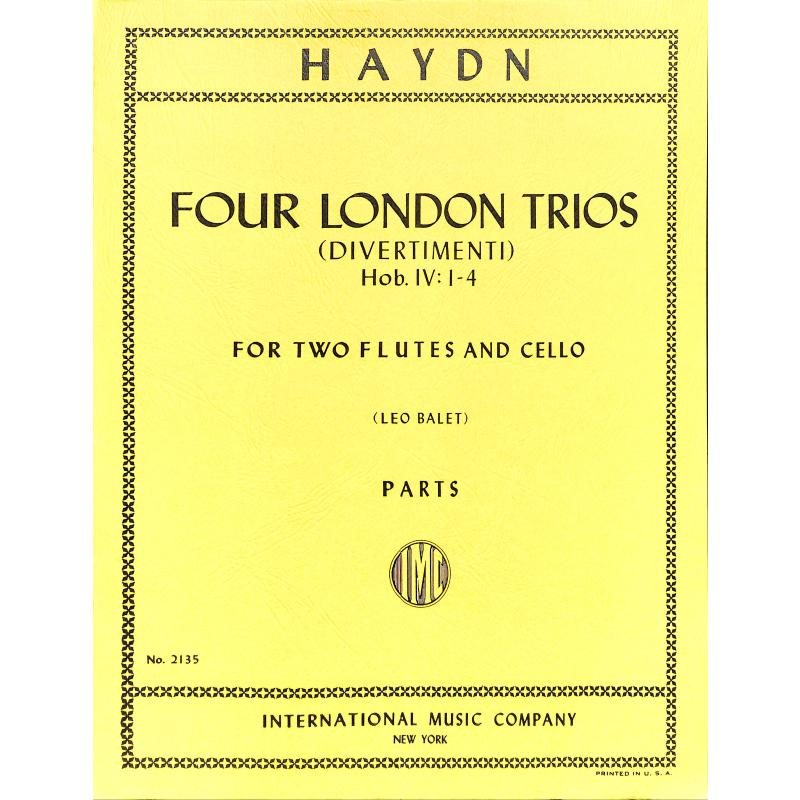 Titelbild für IMC 2135 - 4 LONDONER TRIOS