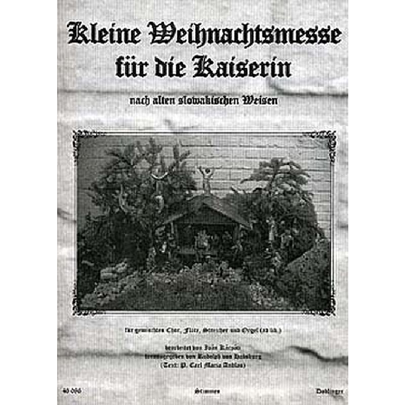 Titelbild für DO 46086-ST - KLEINE WEIHNACHTSMESSE FUER DIE KAISERIN