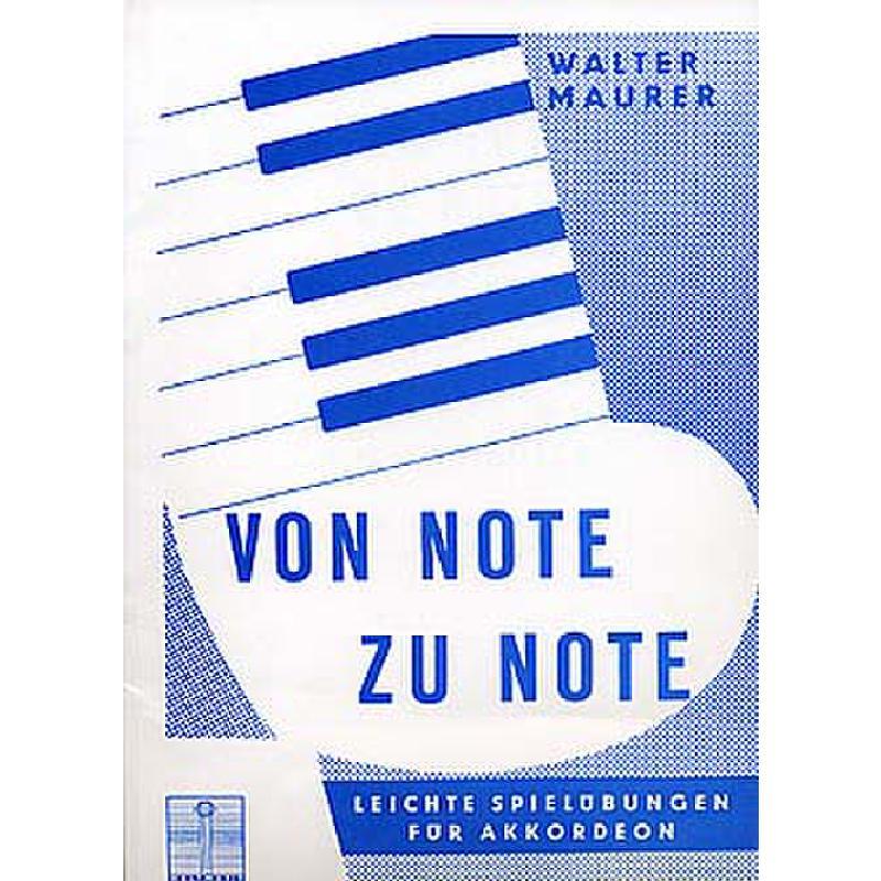 Titelbild für WM 960181 - VON NOTE ZU NOTE - LEICHTE SPIELUEBUNGEN