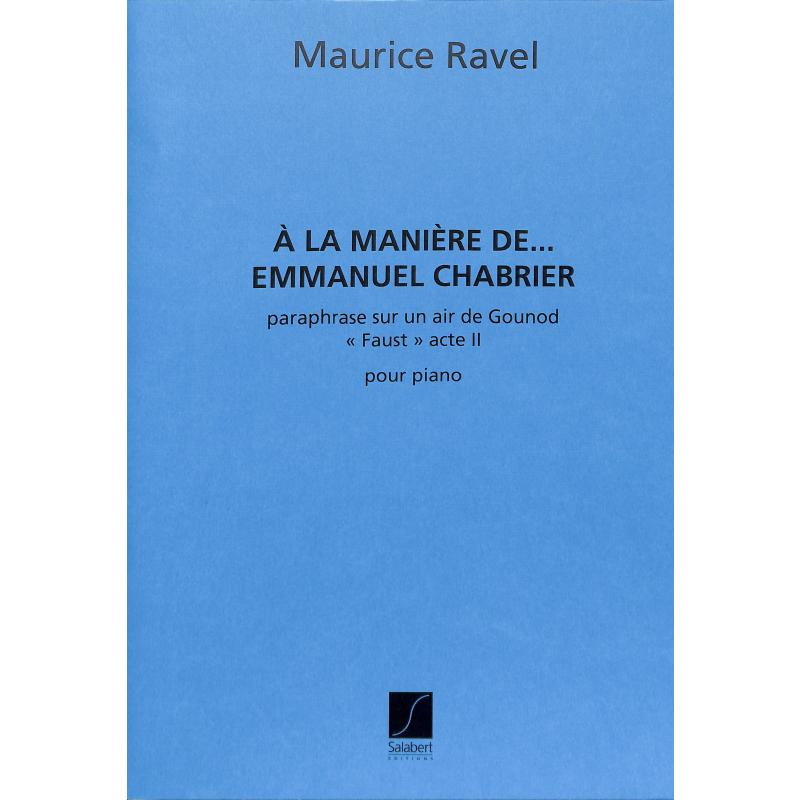 Titelbild für SLB 5537 - A la maniere de Emmanuel Chabrier