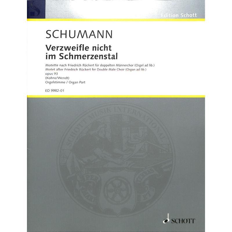 Titelbild für ED 9982-01 - VERZWEIFLE NICHT IM SCHMERZENSTAL OP 93