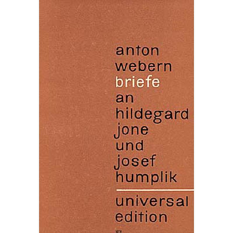 Titelbild für UE 13100 - BRIEFE AN HILDEGARD JONE + JOSEPH HUMPLIK