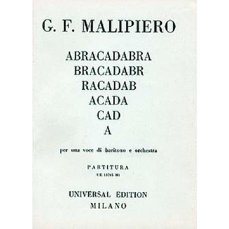 Titelbild für UE 13705 - ABRACADABRA