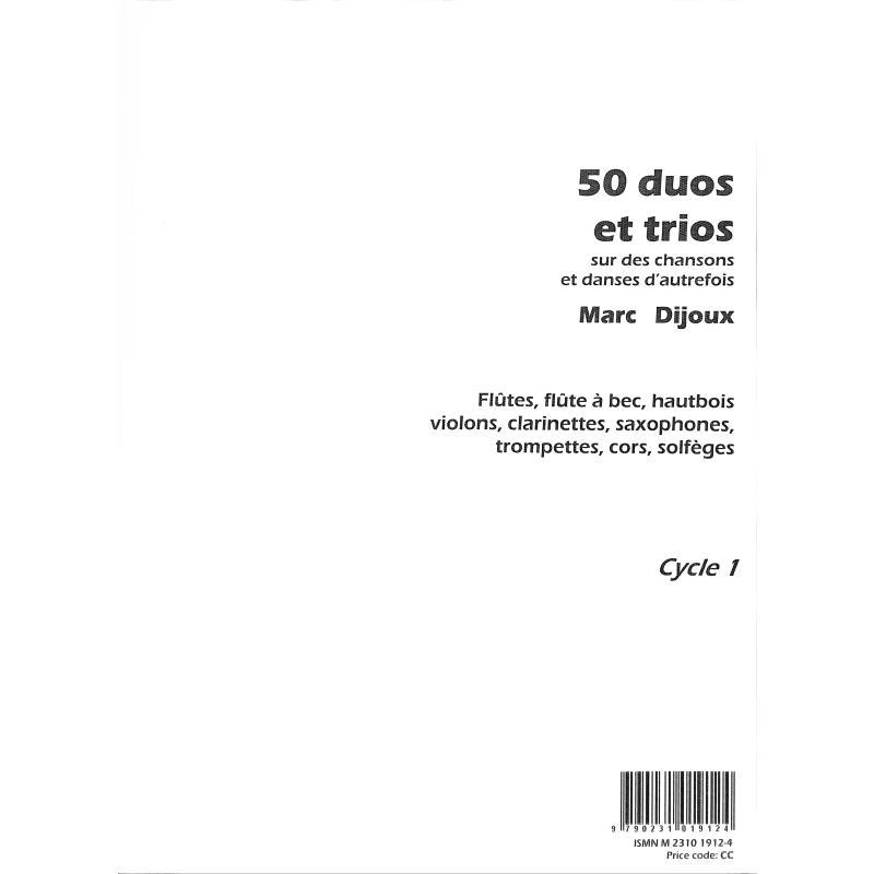 Titelbild für MARTIN 1912 - 50 DUOS + TRIOS SUR DES CHANDSONS ET DANSES D'AUTREFOIS