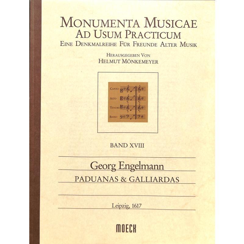 Titelbild für MOE 9018 - PADUANAS + GALLIARDAS