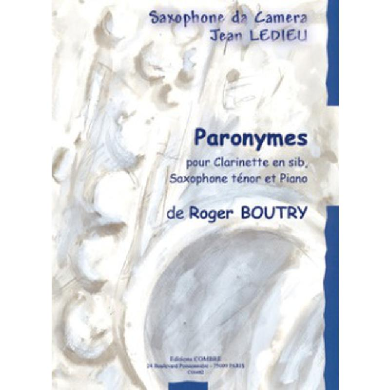 Titelbild für COMBRE 6482 - PARANYMES
