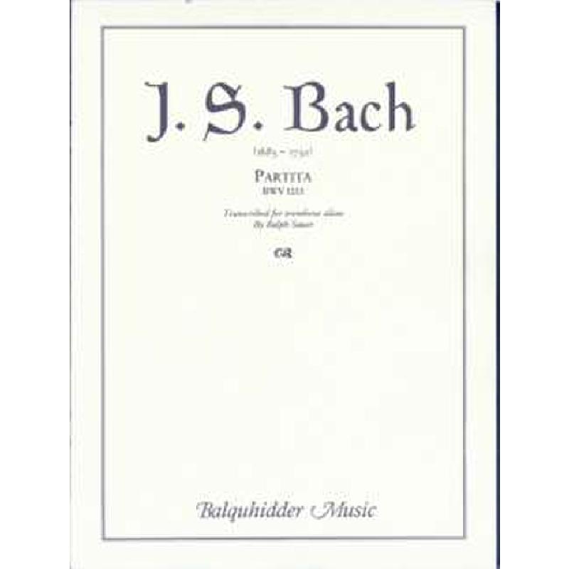 Titelbild für CF -BQ69 - PARTITA BWV 1013 D-MOLL (A-MOLL)