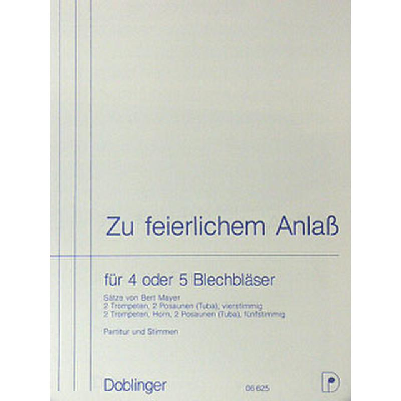 Titelbild für DO 06625 - ZU FEIERLICHEM ANLASS