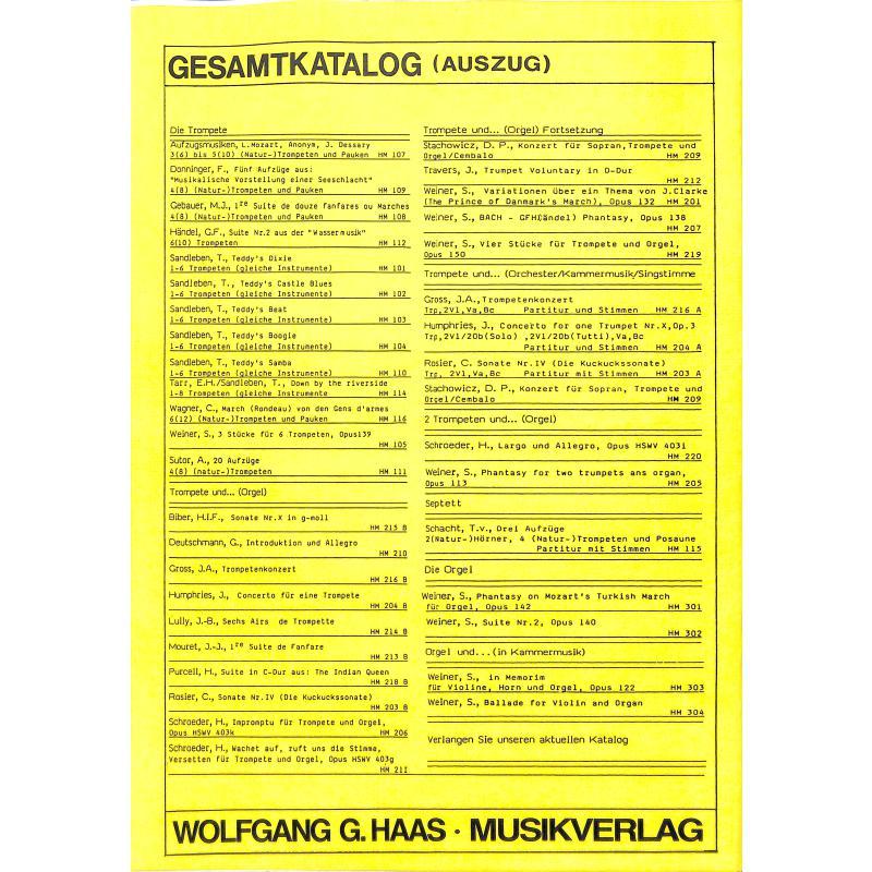 Notenbild für HAAS 104-1 - WASSERMUSIK SUITE 2