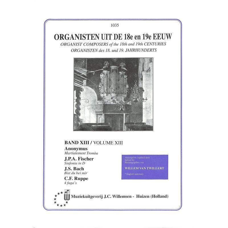 Titelbild für WILLEMSEN 1035 - ORGANISTEN BD 13 UIT DE 18 + 19 EEUW