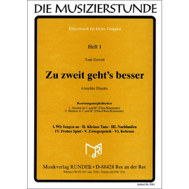Titelbild für RUNDEL 5001 - ZU ZWEIT GEHT'S BESSER